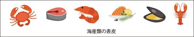 海産類の表皮